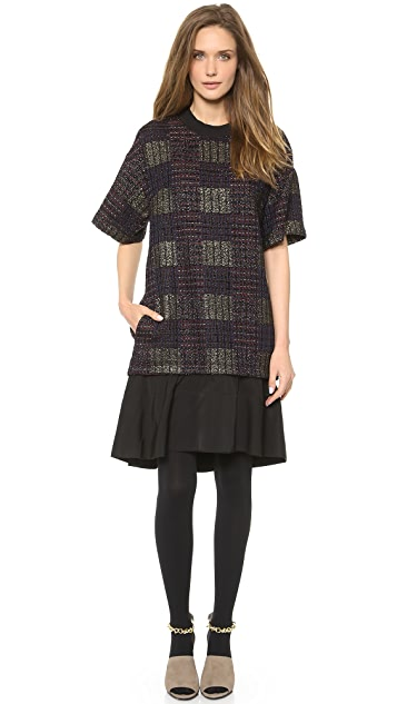 3.1 Phillip Lim Tweed Flounce Mini Dress
