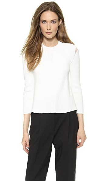 3.1 Phillip Lim Pullover with Sheer Insets