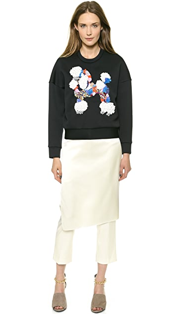 3.1 Phillip Lim Mixed Media Poodle Sweatshirt