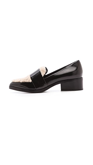 3.1 Phillip Lim Quinn Loafers with Shearling Trim