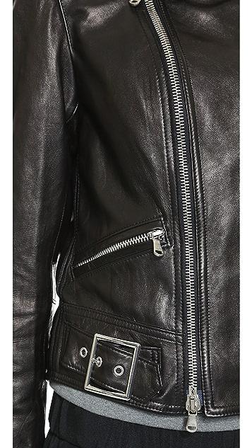 3.1 Phillip Lim Sculpted Leather Moto Jacket