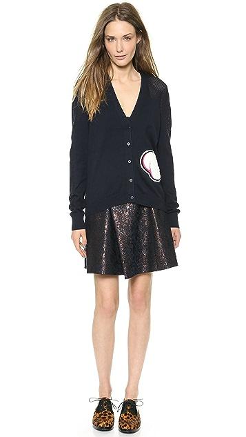 3.1 Phillip Lim Metallic Jacquard Pleat Skirt