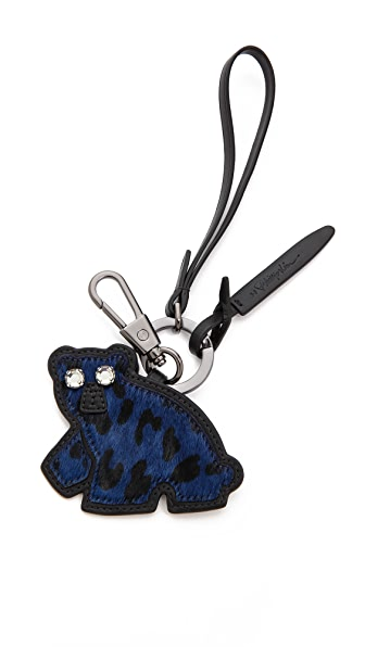 3.1 Phillip Lim Bear Patchwork Haircalf Keychain