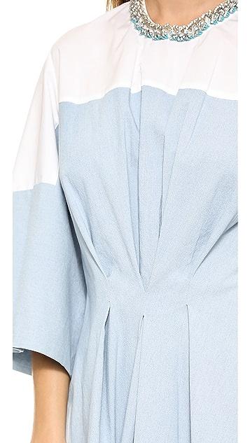 3.1 Phillip Lim Pintuck Waist Chambray Dress
