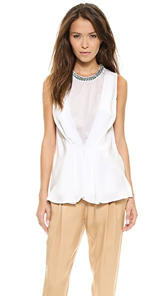 3.1 Phillip Lim Pintuck Sleeveless Top