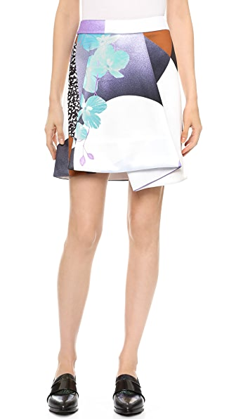 3.1 Phillip Lim Graffiti Floral Skirt