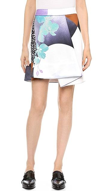 3.1 Phillip Lim Graffiti Floral Skirt