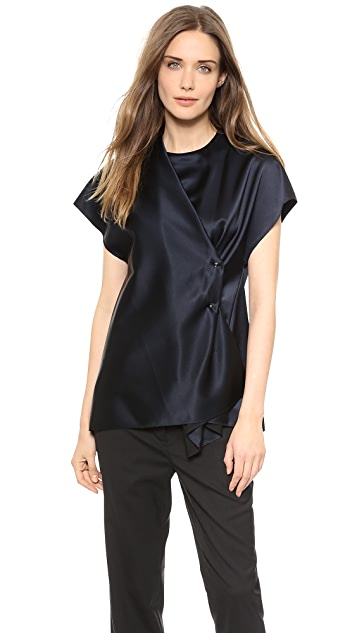 3.1 Phillip Lim Crossover Drape Shirt