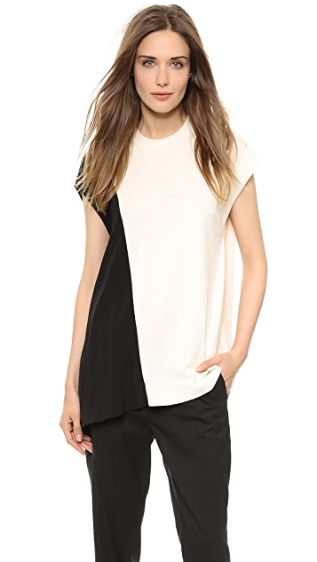 3.1 Phillip Lim Draped Insert Tee