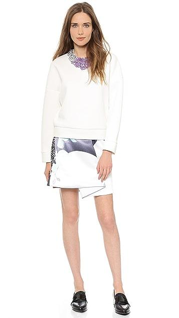 3.1 Phillip Lim Crystal Encrusted Neckline Sweatshirt