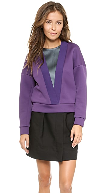 3.1 Phillip Lim Deep V Ribbed Top