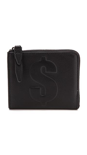 3.1 Phillip Lim Dollar Mini Zip Around Wallet