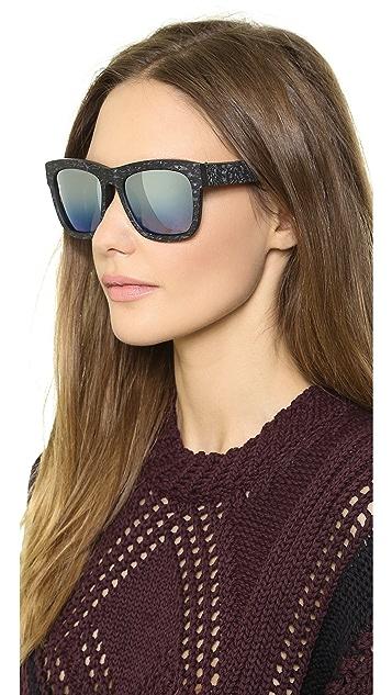 3.1 Phillip Lim Square Mirrored Sunglasses