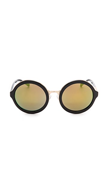 3.1 Phillip Lim Thick Rim Round Sunglasses