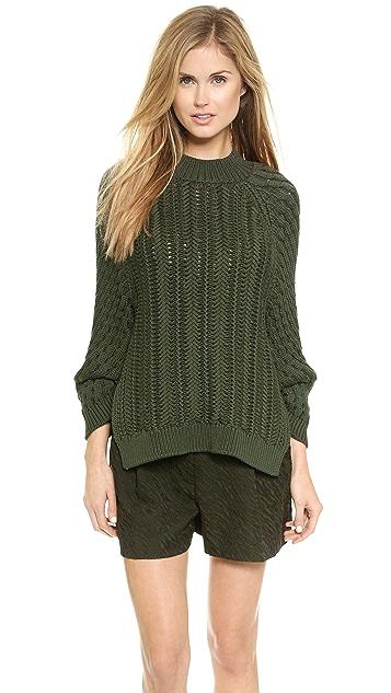 3.1 Phillip Lim Cable Stitch Sweater