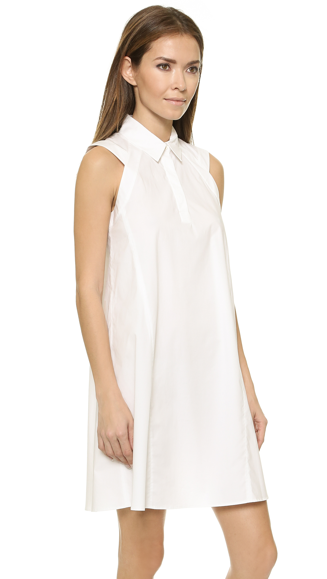 58f5d54e287655 3.1 Phillip Lim Sleeveless Trapeze Dress