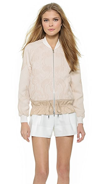 3.1 Phillip Lim Cinched Cloque Bomber