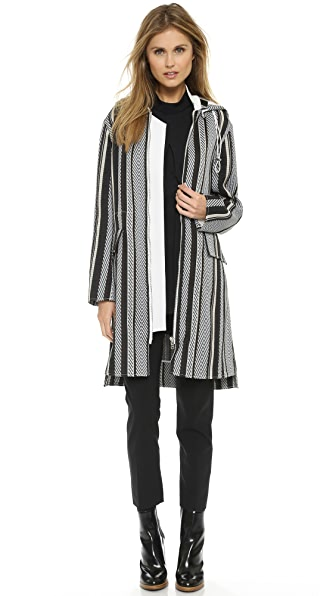 3.1 Phillip Lim Hooded Striped Parka