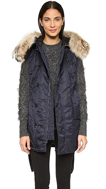 3.1 Phillip Lim Fur Trim Flight Vest