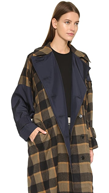 3.1 Phillip Lim Oversized Flannel Trench