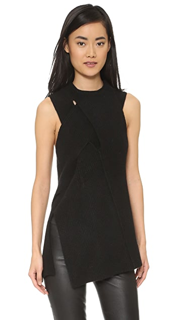 3.1 Phillip Lim Draped Ribbed Tank