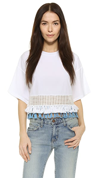 3.1 Phillip Lim Crop Top with Eyelet Hem