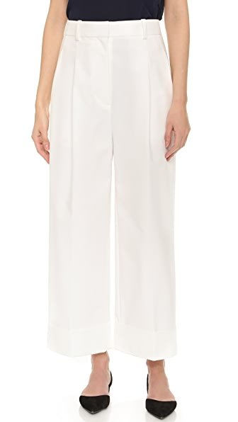 3.1 Phillip Lim Cropped Wide Leg Cuff Trousers