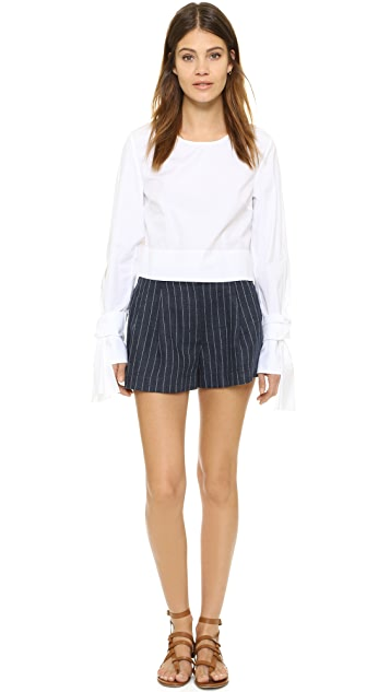3.1 Phillip Lim Blouse with Open Seam Sleeves