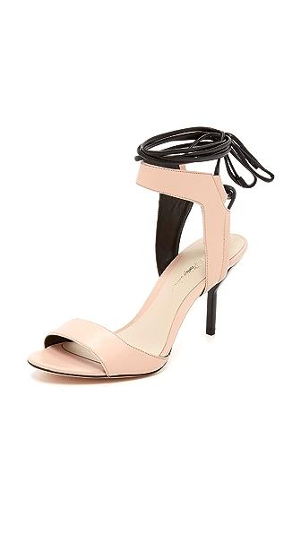 3.1 Phillip Lim Martini Ankle Lace Sandals - Light Peach