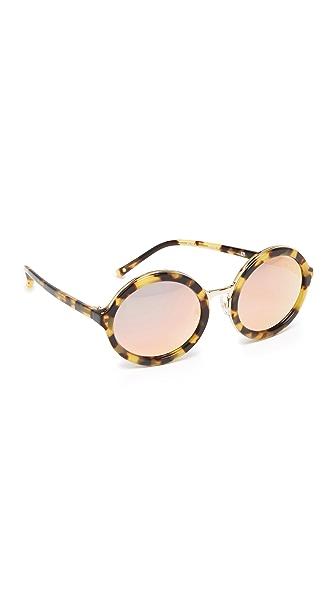 3.1 Phillip Lim Round Mirrored Sunglasses