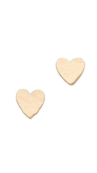 Phyllis + Rosie Jewelry Heart Stud Earrings