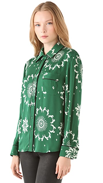 Piamita Isabella Button Up Blouse