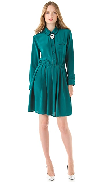 Piamita Frida Solid Shirtdress