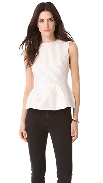 Pierre Balmain Sleeveless Peplum Shirt