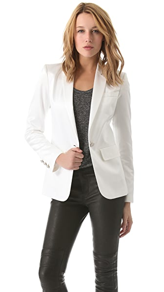 Pierre Balmain Satin One Button Blazer