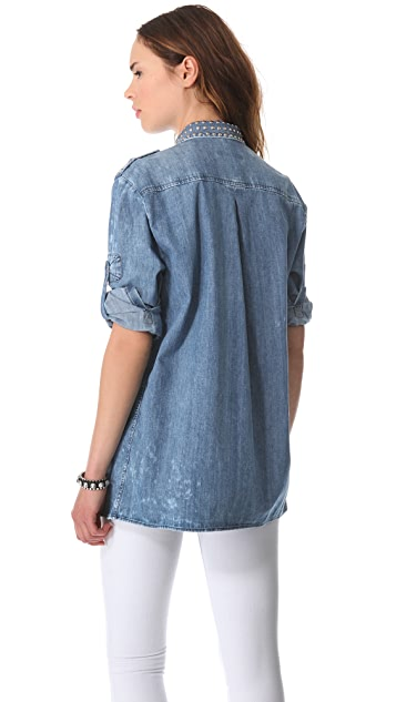 Pierre Balmain Studded Denim Shirt