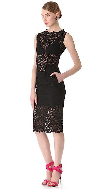 Pierre Balmain Sleeveless Lace Dress