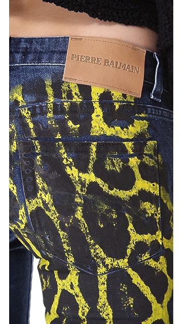 Pierre Balmain Cheetah Print Jeans