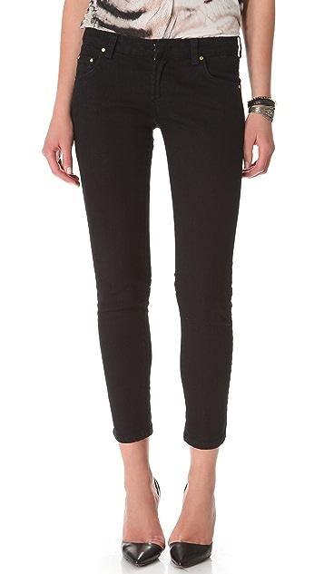 Pierre Balmain 5 Pocket Lace Up Jeans