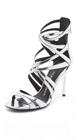 Pierre Balmain Manila Metallic Sandals