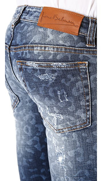 Pierre Balmain Leopard Skinny Jeans