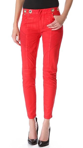 Pierre Balmain Coated Skinny Jeans