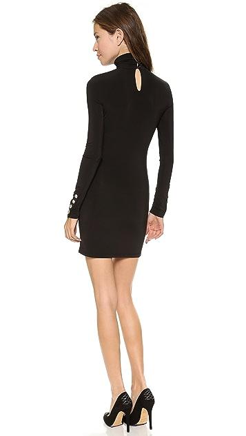 Pierre Balmain Slash Shoulder Turtleneck Dress