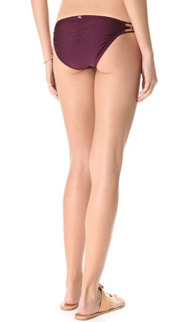 PilyQ Sangria Braided Full Bikini Bottoms