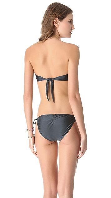 PilyQ Titanium Bandeau Bikini Top