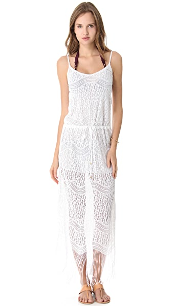 PilyQ Spa White Belle Cover Up Maxi Dress