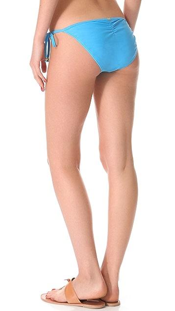 PilyQ Pacific Blue Laser String Bikini Bottoms