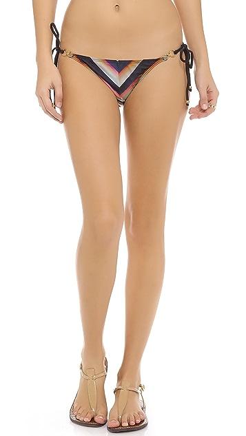 PilyQ Black Horizon Bikini Bottoms