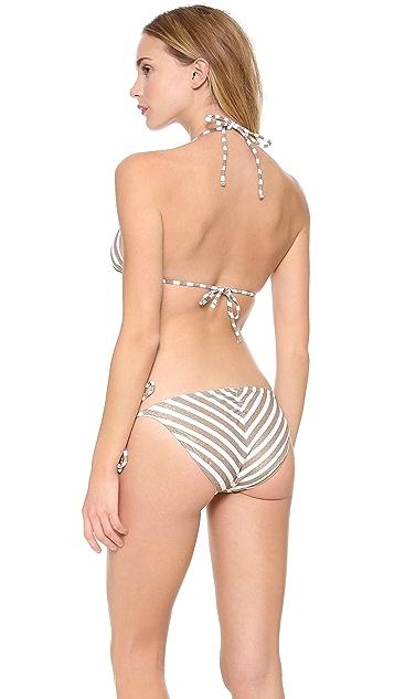 PilyQ Mosaic Gold Bikini Top