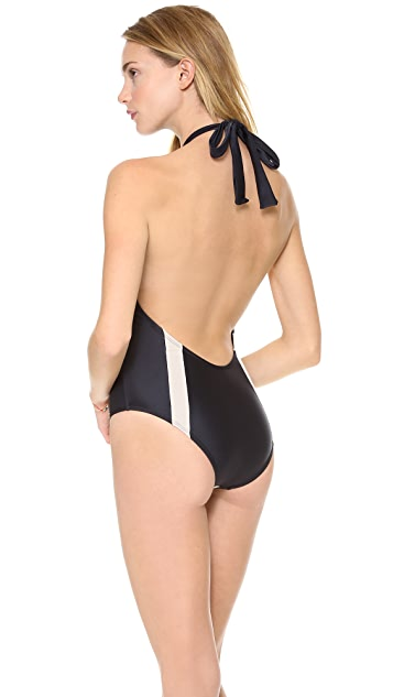 PilyQ Jet Black One Piece Swimsuit